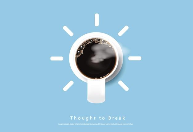 Ilustração de base de propaganda em cartaz de café