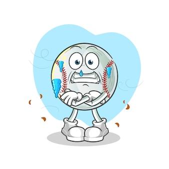 Ilustração de baseball frio