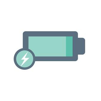 Ilustração, de, bateria, ícone