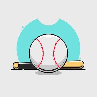 Ilustração de beisebol.