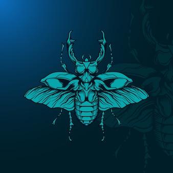 Ilustração de besouro
