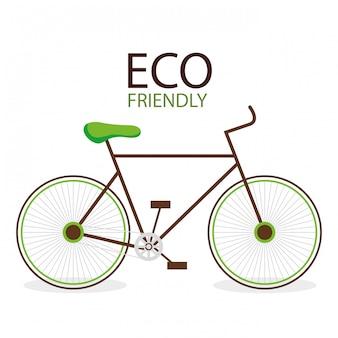 Ilustração de bicicleta ambiental amigável de eco