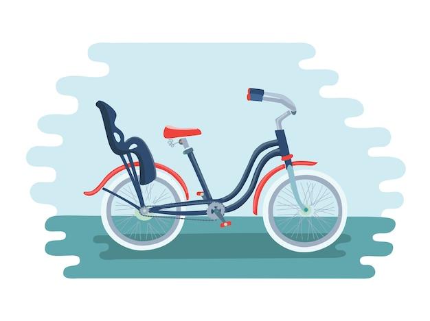 Ilustração de bicicleta com cadeira de criança