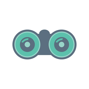 Ilustração, de, binocular