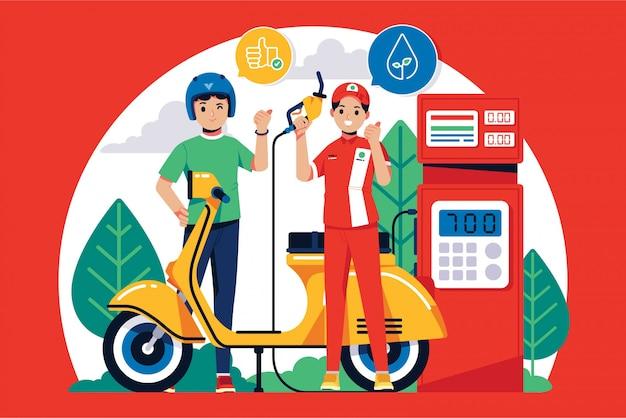 Ilustração de biocombustível