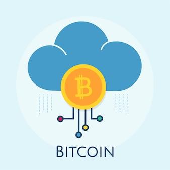 Ilustração, de, bitcoin, conceito