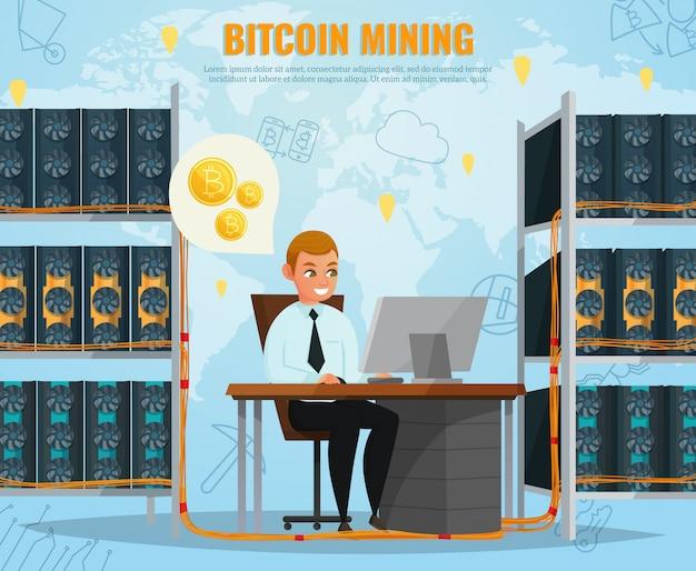 Ilustração de bitcoin de criptomoeda