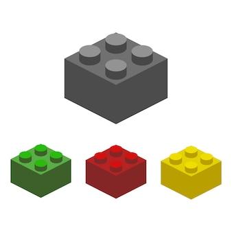Ilustração de bloco de construção