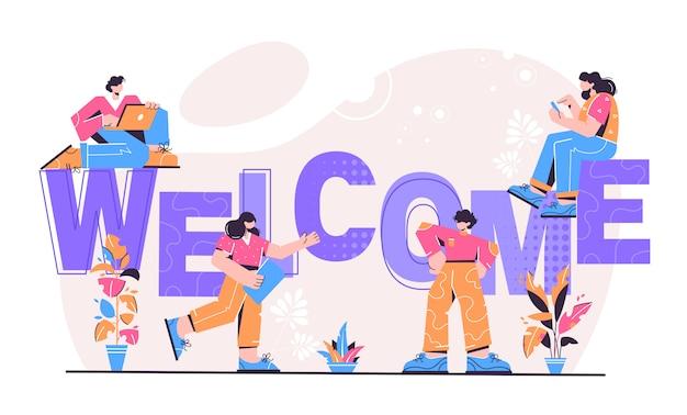 Ilustração de boas-vindas