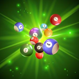 Ilustração de bolas de bingo