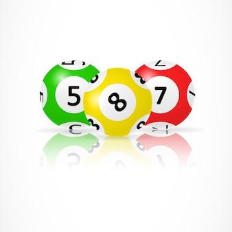 Ilustração de bolas lotto