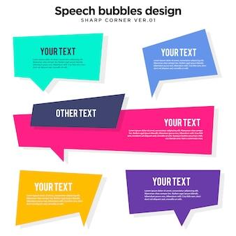Ilustração de bolha do discurso colorido