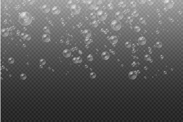 Ilustração de bolhas de sabão transparentes