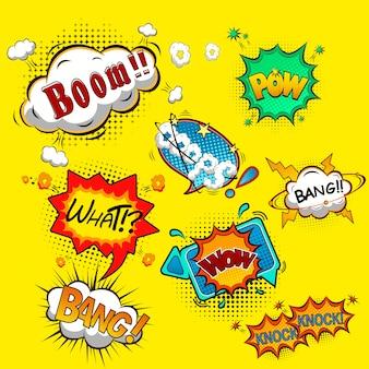 Ilustração de bolhas do discurso em quadrinhos