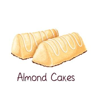 Ilustração de bolos de amêndoa
