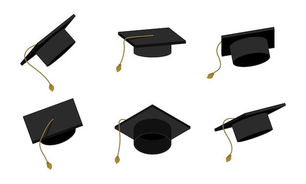 Ilustração de boné de pós-graduação em educação