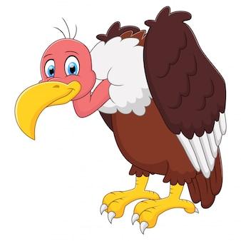 Ilustração de bonito um desenho animado de abutre