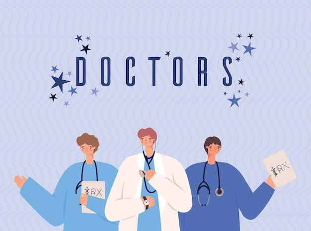 Ilustração de bons médicos
