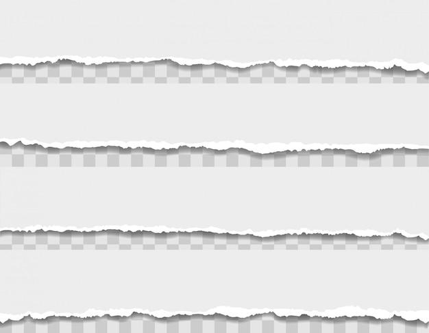 Ilustração de borda de papel rasgado