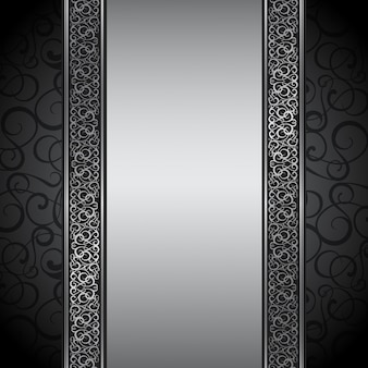 Ilustração de borda decorativa.