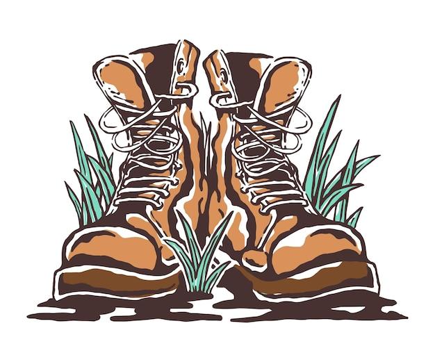 Ilustração de botas