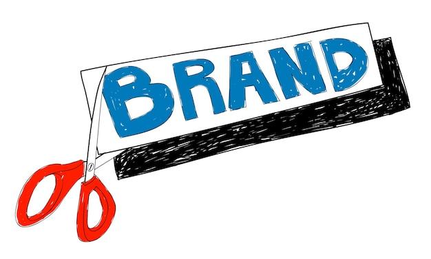 Ilustração de branding de negócios