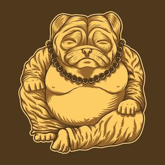 Ilustração de budai pug