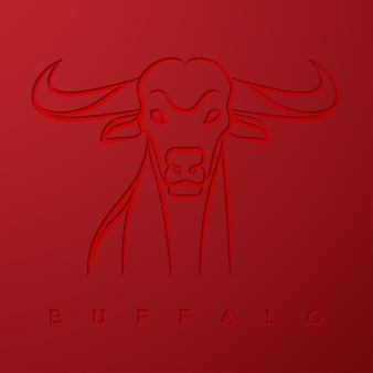 Ilustração de búfalo