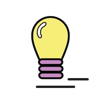 Ilustração, de, bulbo leve, ícone