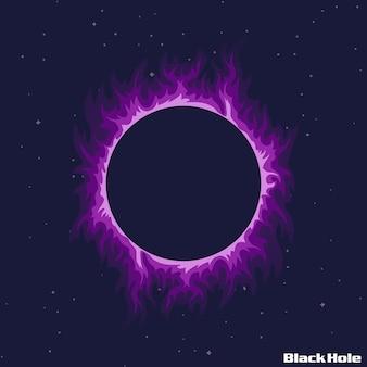 Ilustração de buraco negro