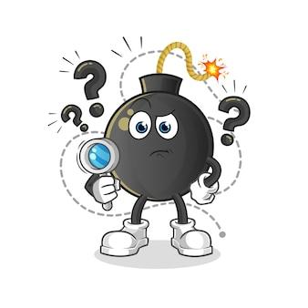 Ilustração de busca de bomba