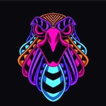 Ilustração de cabeça de águia
