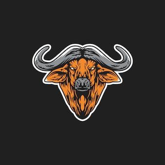 Ilustração de cabeça de búfalo