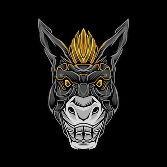 Ilustração de cabeça de burro