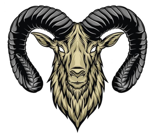 Ilustração de cabeça de cabra