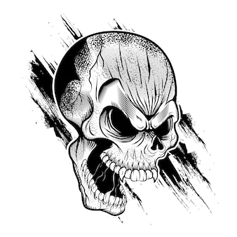 Ilustração de cabeça de caveira