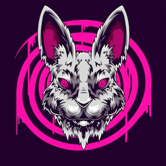 Ilustração de cabeça de coelho