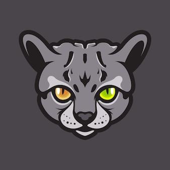 Ilustração de cabeça de gato