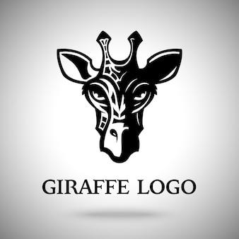 Ilustração de cabeça de girafa escura