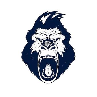 Ilustração de cabeça de gorila