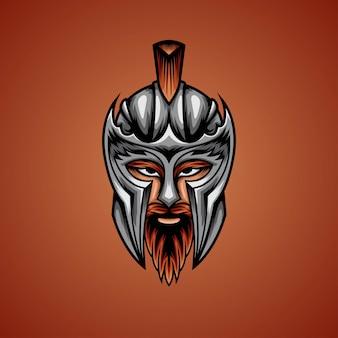 Ilustração de cabeça de guerreiro