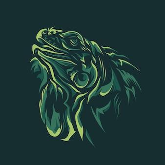 Ilustração de cabeça de iguana