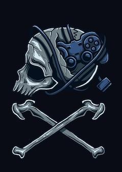 Ilustração de cabeça de jogador