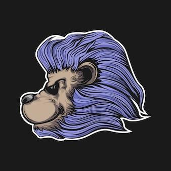 Ilustração de cabeça de leões