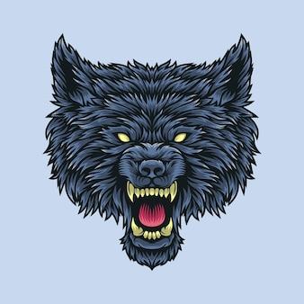 Ilustração de cabeça de lobo