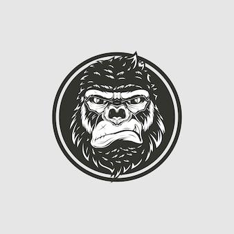 Ilustração de cabeça de macaco