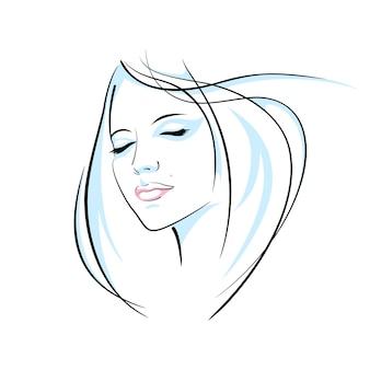 Ilustração de cabeça de menina