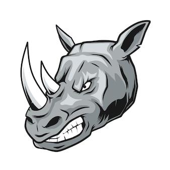 Ilustração de cabeça de rinoceronte