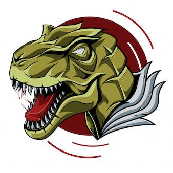 Ilustração de cabeça de t-rex