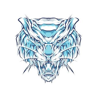 Ilustração de cabeça de tigre Vetor Premium
